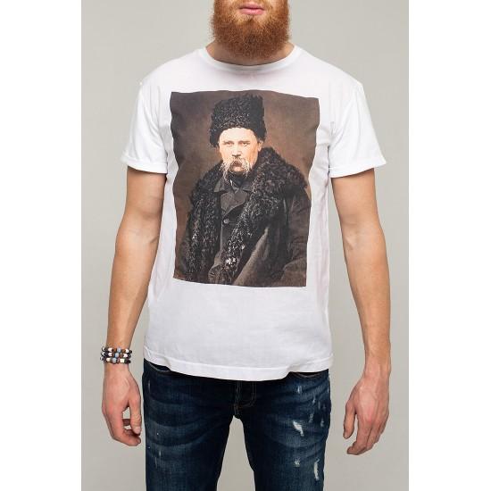 """Футболка біла """"портрет Шевченка"""""""