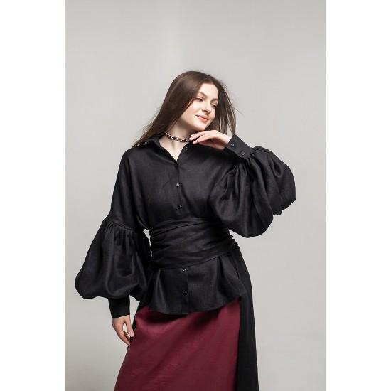 Блуза Меланія (чорна)