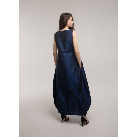 """Сукня """"Устина"""" (синя з блакитною вибійкою)"""